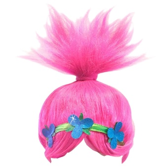 Harga Kid Bright Beautiful Cosplay Wig for Trolls Poppy Styling - intl