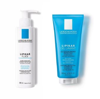 [Mother's Day Set] La Roche-Posay Lipikar Gel Lavant 200ml + Lipikar Fluide 200ml