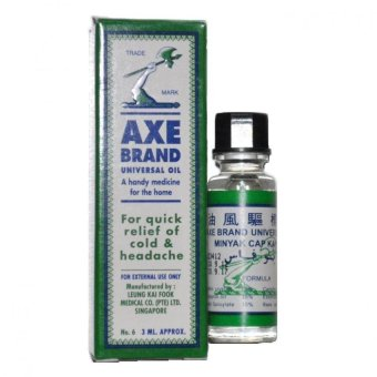 Harga Famous Singapore Axe Brand Universal Medicated Oil Relief - 3ml