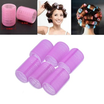 Harga 6Pcs Self Grip Hair Rollers DIY Hair Curlers 2.5cm Random Color - intl