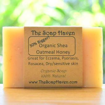 Harga The Soap Haven Organic Shea Oatmeal Honey (Great for Eczema, Psoriasis Treatment & Sensitive Skin)