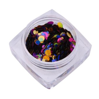 Harga Nail Art DIY Glitter Nail Tips Confetti Decor - intl