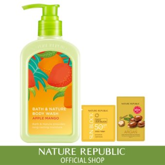 Harga Nature Republic Bath & Nature Apple Mango Body Wash
