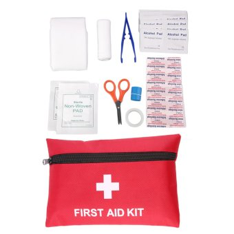 Harga Allwin 1pc 12Types Camping Emergency Survival Tools All In One Tool First Aid Kit Red