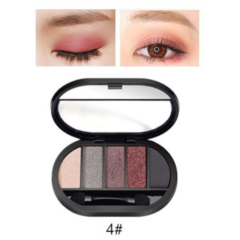 Harga Travel Easy Matte Eye Shadow Makeup 5 Color Glitter Waterproof Natural Eyeshadow Palette Shimmer Easy to Wear Make up - intl