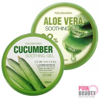 Harga [BUNDLE DEAL] 2 Feelrekorea SOOTHING GEL Aloe Vera + CUCUMBER (300g)