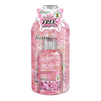 Harga Kustie Cherry Blossom Shower Gel 500ml + Shower Gel 100ml