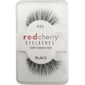 Fashion Pro False Human Hair Eyelashes Makeup Natural Black Eye lashes - intl