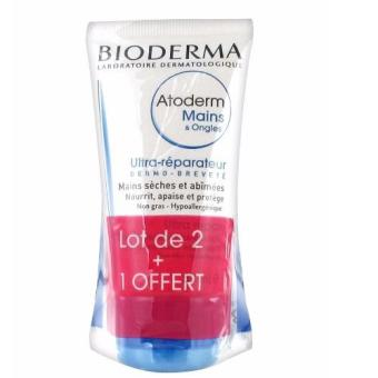 Harga Bioderma Atoderm Mains & Ongles Ultra Repair Dry and Damaged Hands & Nails x 3