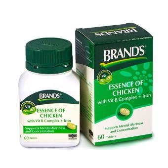 Harga BRAND'S® Essence of Chicken with Vit B Complex + Iron x 60 Tablets