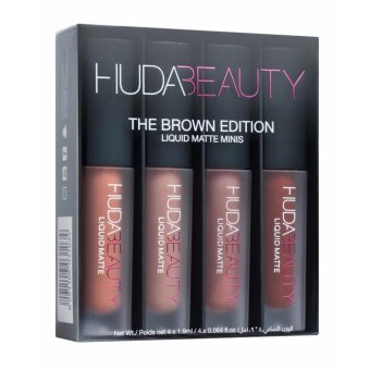 Harga Huda Beauty Liquid Matte Minis – The Brown Edition