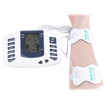 Electronic Body Slimming Pulse Massage for Muscle Relax Pain Relief Stimulator Acupuncture Therapy Machine - US PLUG (White) - intl