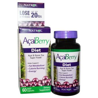 Harga Natrol Acaiberry Diet, Acai and Green Tea Super Foods, 60 Fast Capsules
