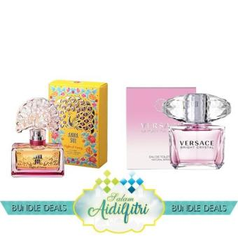 Harga Anna Sui Flight of Fancy EDT Lady (75ml) & Versace Bright Crystal EDT Lady (90ml)