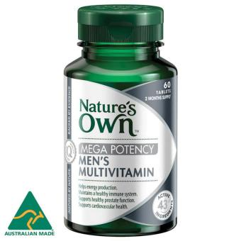 Harga Nature's Own Men's Multivitamin Mega Potency / 60 Tablets / 2 Months Supply / Support Healthy Wellbeing for Men