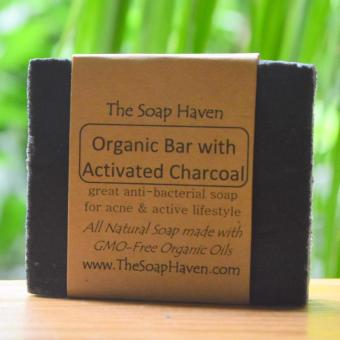 Harga The Soap Haven Organic Activated Charcoal Soap (Naturally Anti-Bacterial for Acne & Active Lifestyle)