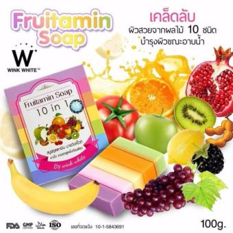 Harga Wink White Fruitamin Soap 10 in 1 x 1 Piece