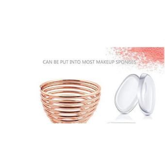 Harga BUYINCOINS Anti-microbial Breathable Makeup Puff Dryer Drying Rack Stand Beauty Blender Sponge Puff Holder(Rose Gold & Square Bottom) - intl