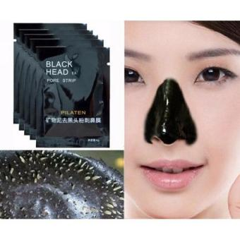 Harga PILATEN Mineral Mud Nose Blackhead Black Head Removal Face Cleansing Mask Pore Strip (Black)