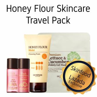 Harga Skinfood x Lazada Exclusive Honey Flour Honey Flour Skincare Travel Pack - Moist