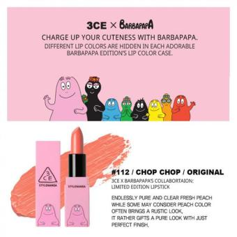 Harga 3CE BARBAPAPA LIP COLOR-#112