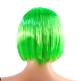 Harga Gracefulvara Lady Women Fashion Short Straight Bob Hair Full Wigs Wig Cosplay Party Wig (Green)