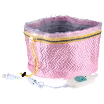 Professional Electric Thermal Treatment Beauty Steamer SPA Hair Care Cap Pink - intl