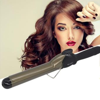Harga Hair Curling Iron with Glove LCD Ceramic Wand Roller Home Use Salon Professional Hair Styling Tool 22MM - intl