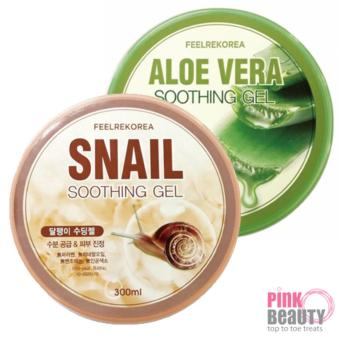 Harga [BUNDLE DEAL] 2 Feelrekorea SOOTHING GEL Aloe Vera + SNAIL (300g)