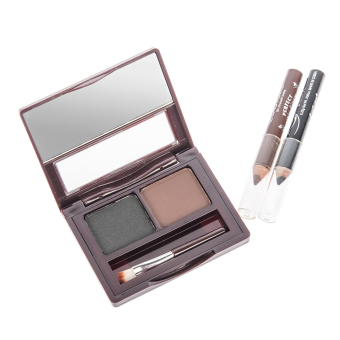Harga Cyber Fashion Cosmetic Kit Makeup Eyebrow Shading Powder Brush Palette 2 Color Natural (Intl) - intl