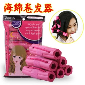 Harga 6pcs Beautiful Curl Modelling Tools Sleeping Sponge Hair Curlers - intl