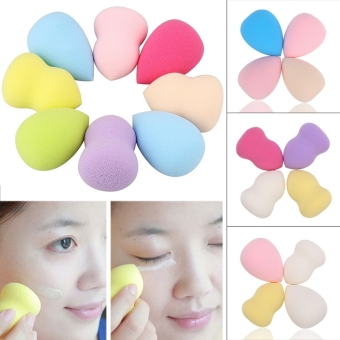 Harga Cyber New Soft 4PCS Makeup Foundation Powder Puff Sponge Blender Gourd Water-drop Shape Multi-colors Face Cosmetic ( Multicolor ) - intl