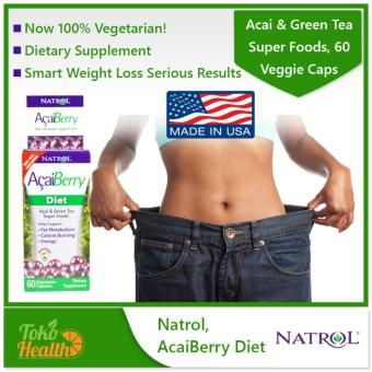 Harga Natrol, AcaiBerry Diet Acai & Green Tea Super Foods 60 Veggie Caps / Fat Burner Diet