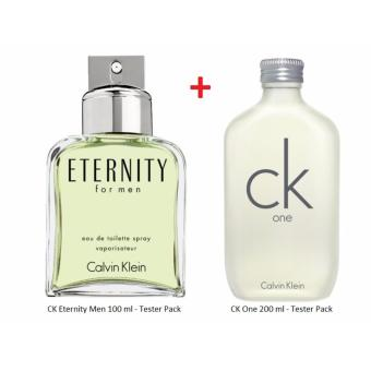 Harga Bundle Offer - CK Eternity Men 100 ml (Tester) + CK One 200 ml (Tester)