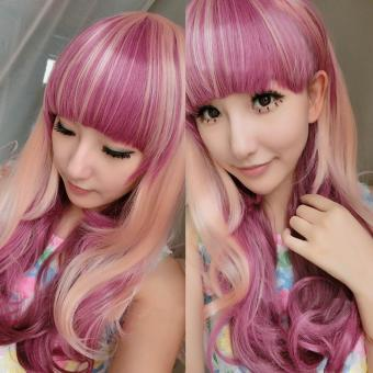 Harga Women Girls Lolita Wig Gradient Color Cosplay Party Wig - intl
