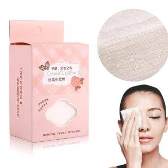 Harga 100Pcs/Set Cosmetic Cotton Pad Lint Free Facial Eye Cleansing Makeup Remover Tool - intl