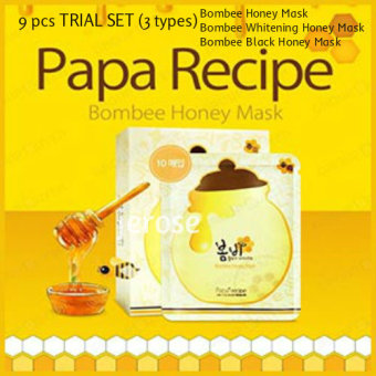 Harga 9 PCS TRIAL SET (3 PCS EACH) {PAPA RECIPE} *100% Authentic * Bombee Honey Mask * Bombee Whitening Honey Mask * Bombee Black Honey Mask *