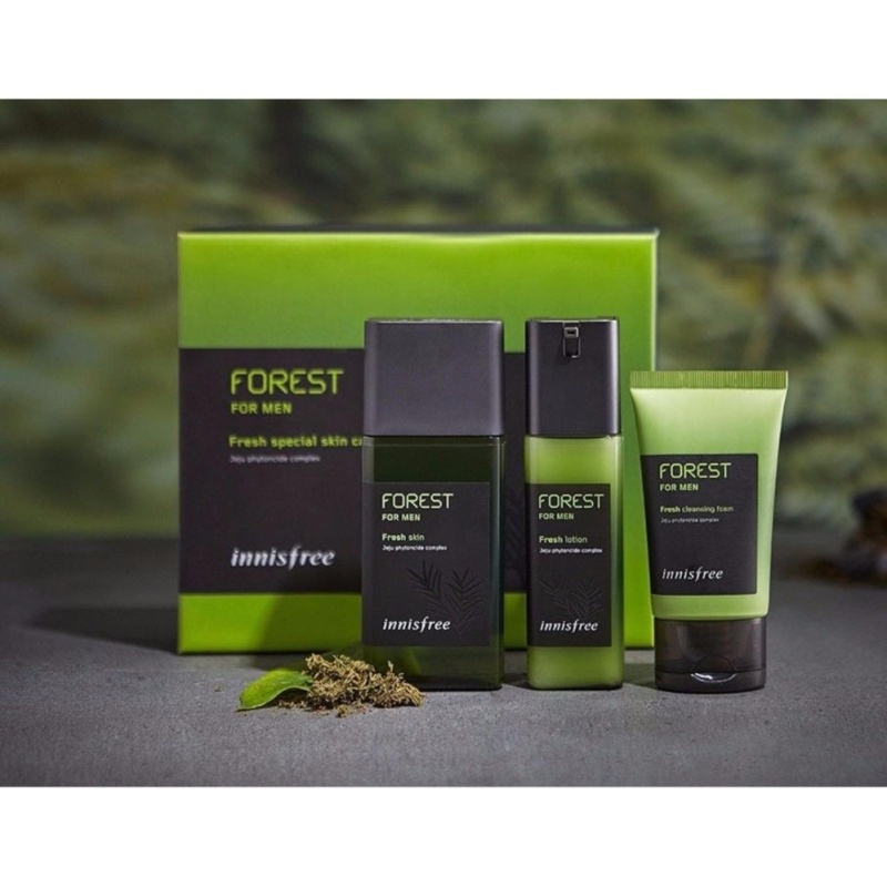 Buy Innisfree forest for men fresh special skin care set - 3 items - intl Singapore
