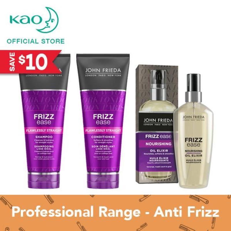 Buy John Frieda Frizz Ease Flawless Straight Shampoo & Conditioner + Oil Elixir Singapore
