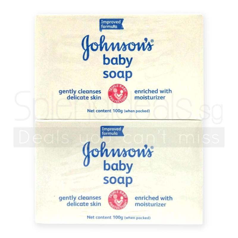 Buy Johnsons Baby White Soap with Moisturisers 100g x 4 x 2 Sets - 0500 Singapore