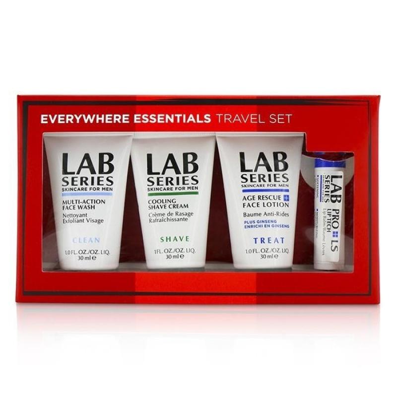 Buy Lab Series Travel Set: Multi-Action Face Wash 30ml + Face Lotion 30ml + Shave cream 30ml + Lip Balm 4.3g - intl Singapore