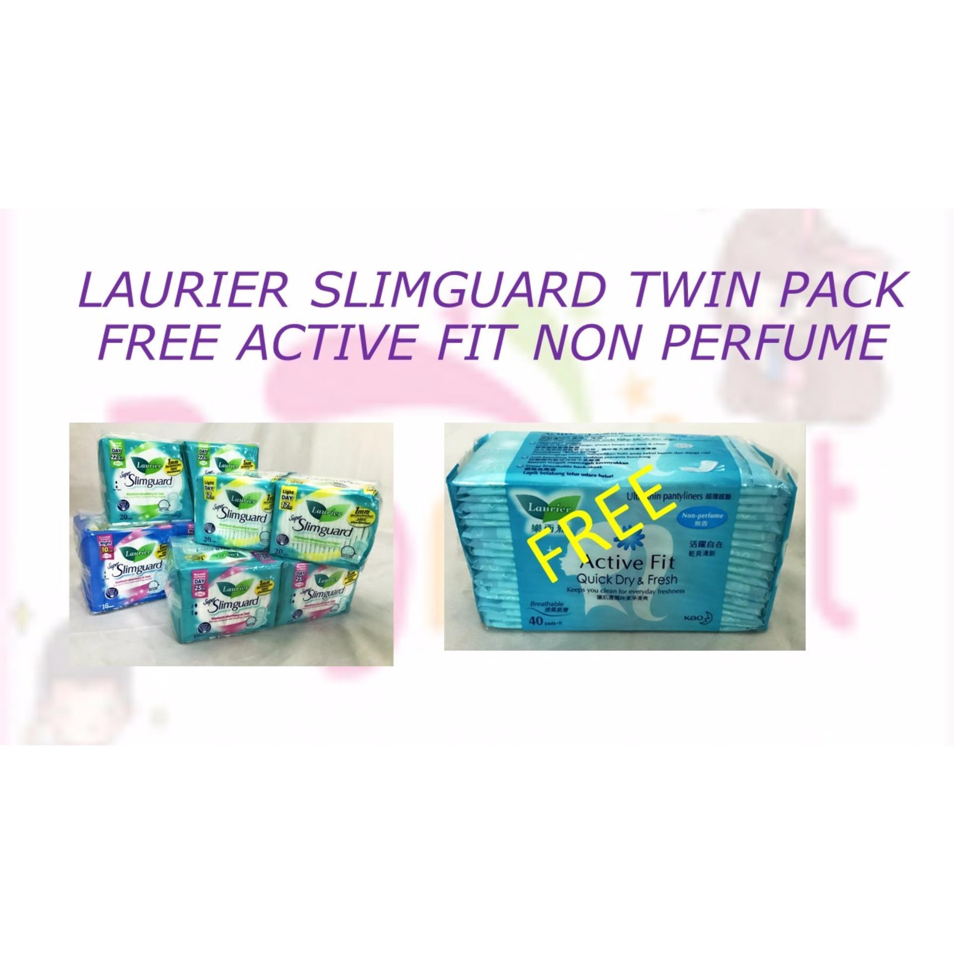 Buy Laurier Super Slim Guard Day 17cm 2 X 20s Singapore Slimguard Night 14s