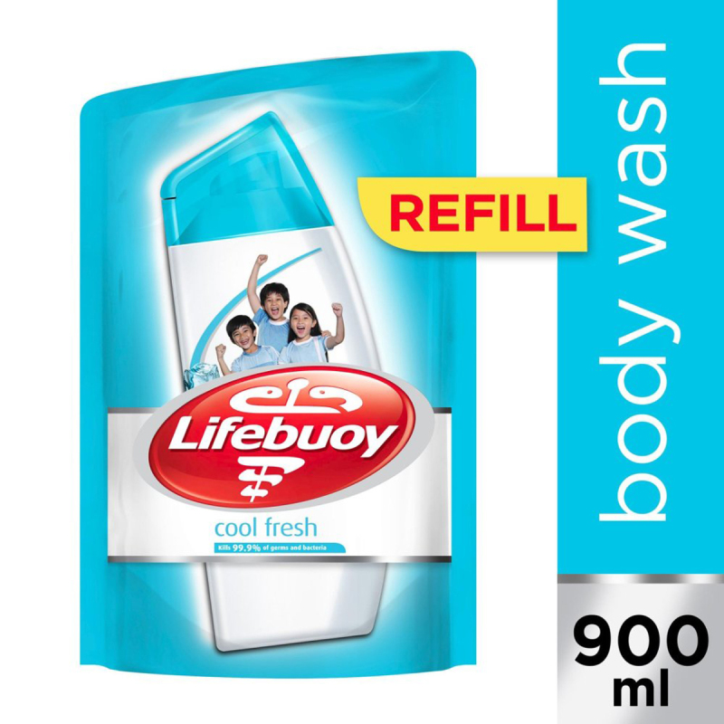 Buy Lifebuoy Cool Fresh Anti-bacterial Body Wash Refill 900ml Singapore