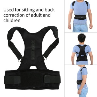 Harga Magnetic Back Shoulder Lumbar Support Posture Correction Belt(M) -intl