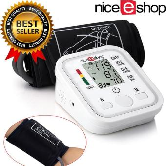 moob Arm Blood Pressure Monitor LCD Heart Beat HomeSphgmomanometer, White