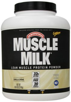 Muscle Milk Protein Powder Vanilla Creme 4.94 Lbs With Free Gift