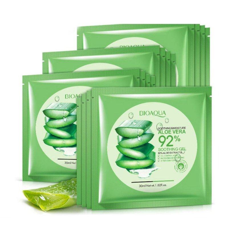 Buy Natural Aloe Vera Gel Moisturizing Masks Sun Repair Sunscreen Facial Gift - intl Singapore