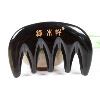 Natural horn massage comb scraping board anti-static real horn hairloss hair wide tooth small comb holiday gift