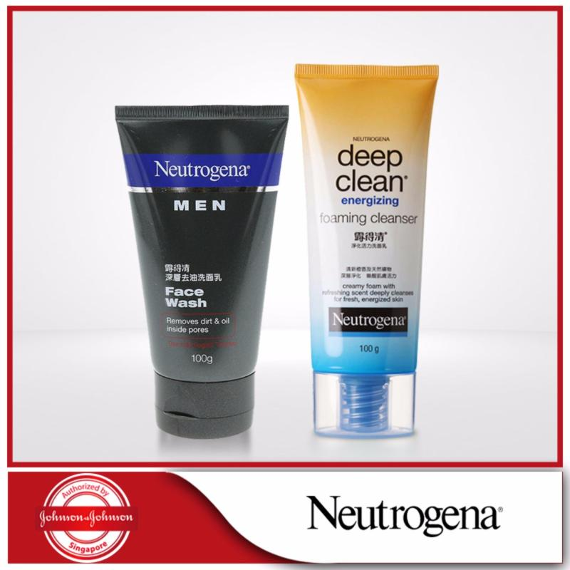 Buy Neutrogena Men Face Wash + Deep Clean Energizing Foam Cleanser Singapore