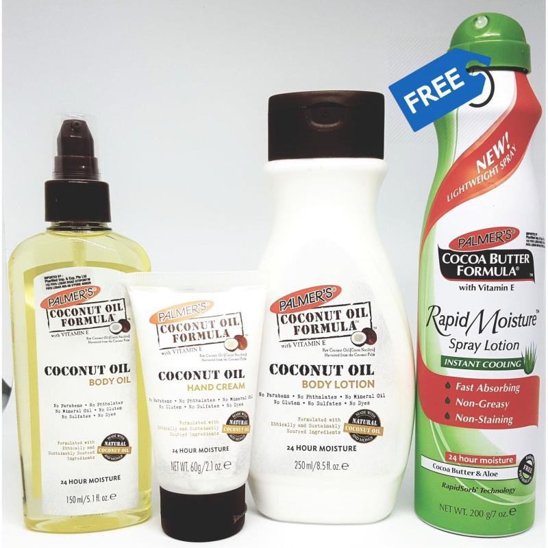 Buy Palmer's Coconut Body Indulgence Bundle Pack (FREE Cocoa Butter Aloe Spray) Singapore
